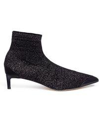 Pedder Red - 'jake' Lurex Knit Ankle Sock Boots - Lyst