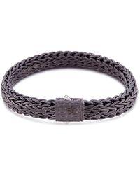 John Hardy - Rhodium Silver Woven Chain Bracelet - Lyst