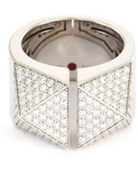 Roberto Coin - 'sauvage Privé' Diamond 18k White Gold Ring - Lyst