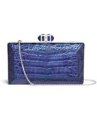 Judith Leiber - 'cayman Coffered Rectangle' Metallic Crocodile Leather Box Clutch - Lyst