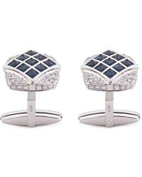 LC COLLECTION - Diamond Alexandrite 18k White Gold Cufflinks - Lyst
