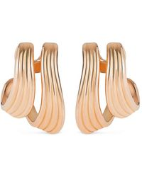 Fernando Jorge - 'stream Lines' 18k Rose Gold Double Hoop Earrings - Lyst