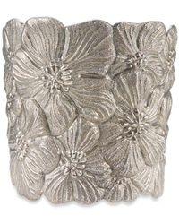 Buccellati   'gardenia Flower' Silver Cuff   Lyst