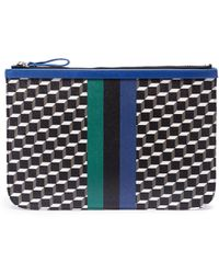 Pierre Hardy - 'perspective Cube' Stripe Print Large Pouch - Lyst