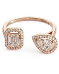 Messika - 'my Twin' Diamond 18k Rose Gold Ring - Lyst