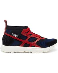 Valentino - 'sound High' Caged Knit Trainers - Lyst