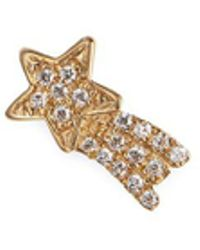 Loquet London - Diamond 18k Yellow Gold 'shooting Star' Charm – Luck - Lyst