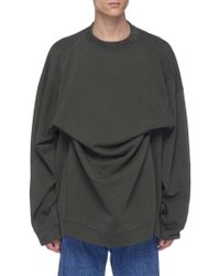 Y. Project - Layered Oversized Sweatshirt - Lyst