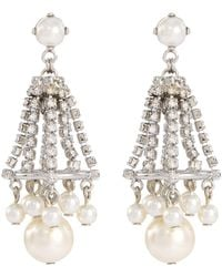 Erickson Beamon - 'knights' Swarovski Crystal Glass Pearl Drop Earrings - Lyst