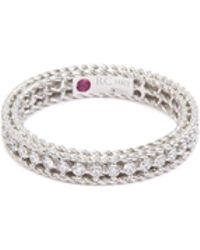 Roberto Coin - 'symphony' Diamond 18k White Gold Ring - Lyst