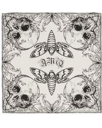 Alexander McQueen - Skull Moth Silk Scarf - Lyst