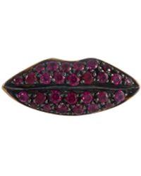 Delfina Delettrez - 'lips' Ruby 18k Yellow Gold Single Stud Earring - Lyst
