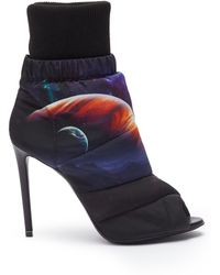 Nicholas Kirkwood - 'planets' Print Puffer Peep Toe Ankle Boots - Lyst