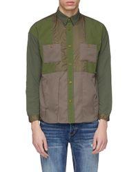 FDMTL - Chest Pocket Patchwork Shirt - Lyst