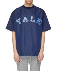 CALVIN KLEIN 205W39NYC - X Yale University Logo Print Boxy T-shirt - Lyst
