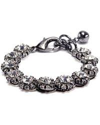 Lulu Frost - 'royale' Glass Crystal Link Bracelet - Lyst