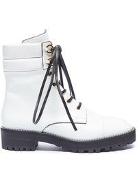 Stuart Weitzman - 'lexy' Leather Combat Boots - Lyst