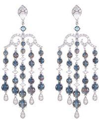 LC COLLECTION - Diamond Alexandrite 18k White Gold Fringe Drop Earrings - Lyst