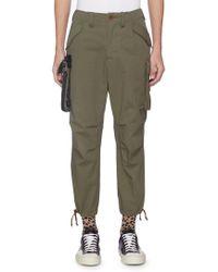 Kolor - X Porter Detachable Pouch Ripstop Cargo Trousers - Lyst