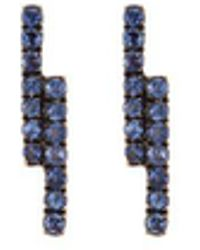 Khai Khai - 'linear' Sapphire 18k Yellow Gold Earrings - Lyst