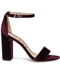 Sam Edelman - 'yaro' Ankle Strap Velvet Sandals - Lyst