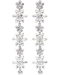 Kenneth Jay Lane - Glass Crystal Floral Drop Earrings - Lyst