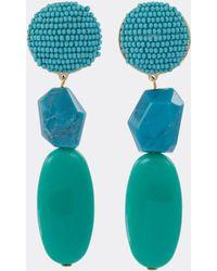 Shourouk - 'medee' Seed Bead Stud Drop Earrings - Lyst