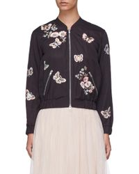 Needle & Thread - Butterfly Rose Embroidered Bomber Jacket - Lyst
