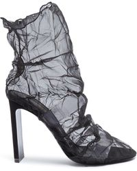 Nicholas Kirkwood - 'd'arcy' Crinkled Organdy Ankle Boots - Lyst