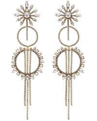 Erickson Beamon - 'china Club' Swarovski Crystal Fringe Hoop Earrings - Lyst