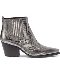Sam Edelman - 'winona' Patent Leather Panelled Ankle Boots - Lyst