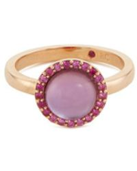 Roberto Coin - 'cocktail' Amethyst Quartz Sapphire 18k Rose Gold Ring - Lyst