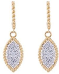 Roberto Coin - 'new Barocco' Diamond 18k Gold Marquise Drop Earrings - Lyst