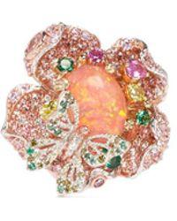 Anabela Chan | 'bloom' Opal Diamond Sapphire Gold Vermeil Open Ring | Lyst