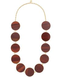 Philippe Audibert - 'naia' Circle Wood Plate Link Necklace - Lyst