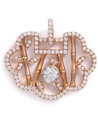 LC COLLECTION - 'lucky Charm' Diamond 18k Rose Gold Pendant - Lyst