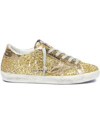 ae6278b4bd82 Golden Goose Deluxe Brand -  superstar  Glitter Coated Leather Sneakers -  Lyst