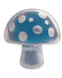 Loquet London - 18k White Gold Enamelled Mushroom Charm - Lyst