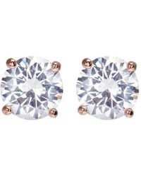 CZ by Kenneth Jay Lane - Round Cut Cubic Zirconia Large Stud Earrings - Lyst