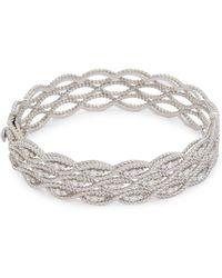 Roberto Coin - 'new Barocco' Diamond 18k White Gold Bangle - Lyst