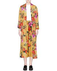 Alice + Olivia - 'kalena' Floral Print Jacquard Satin Kaftan - Lyst