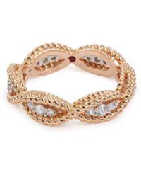 Roberto Coin - 'new Barocco' Diamond 18k Rose Gold Ring - Lyst