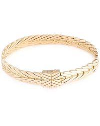 John Hardy - 18k Yellow Gold Weave Effect Link Chain Bracelet - Lyst