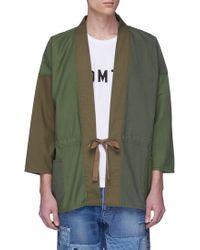 FDMTL - Logo Print Colourblock Kimono Jacket - Lyst