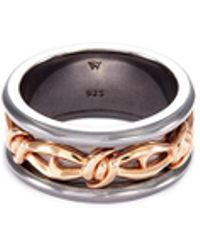 Stephen Webster - 'highwayman' Rhodium Rose Gold Silver Thorn Ring - Lyst