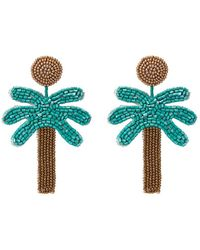 Kenneth Jay Lane - Beaded Palm Tree Drop Earrings - Lyst