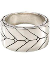 John Hardy - Silver Weave Effect Ring - Lyst