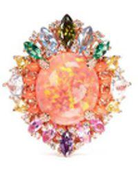 Anabela Chan | 'opals Nereides' Diamond Pavé Gemstone Ring | Lyst