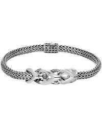 John Hardy - 'asli Classic Chain' Silver Station Link Extra Small Bracelet - Lyst
