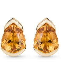 Fernando Jorge - 'bloom' Diamond Topaz 18k Gold Large Stud Earrings - Lyst